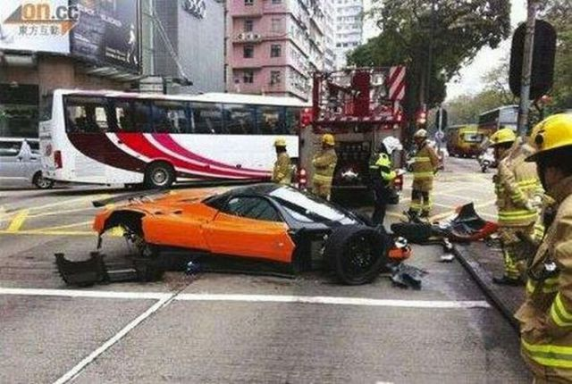 Pagani Supercar Crashed
