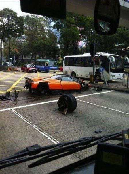 Pagani Supercar Crashed