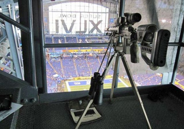 Police Snipers  at the Super Bowl