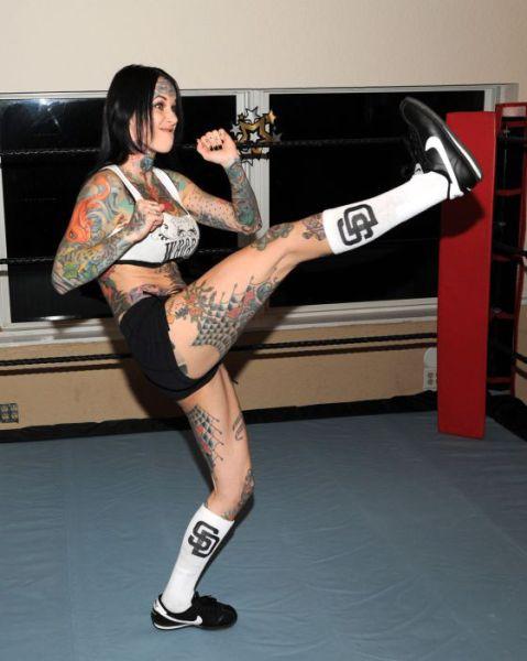 """Michelle """"Bombshell"""" McGee's Tattooed Body"""