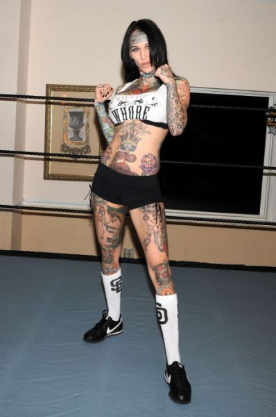 "Michelle ""Bombshell"" McGee's Tattooed Body"