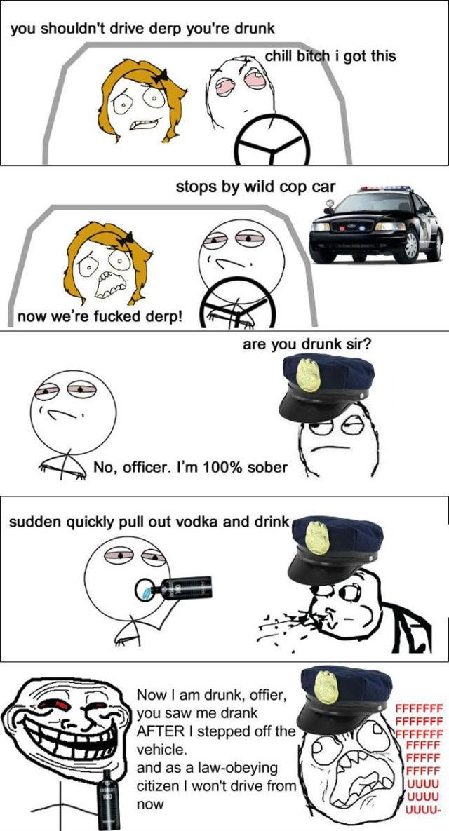 Troll's Way to Drive Drunk