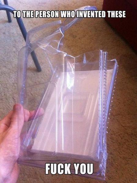 Inventos odiosos, los paquetes blister que no se pueden abrir
