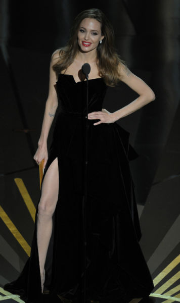 Angelina's Right Leg Stole the Show