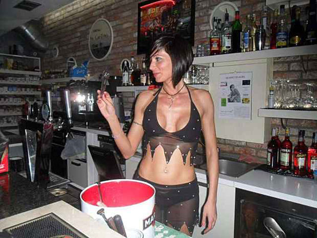Jealous Wives vs. Busty Italian Barmaid