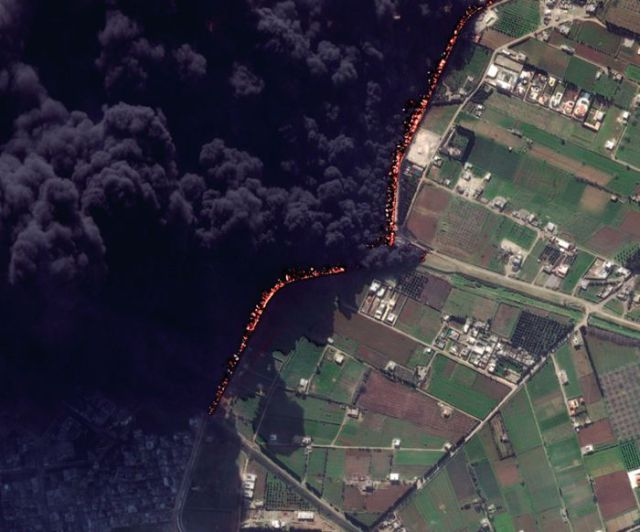 Syrian Pipeline on Fire