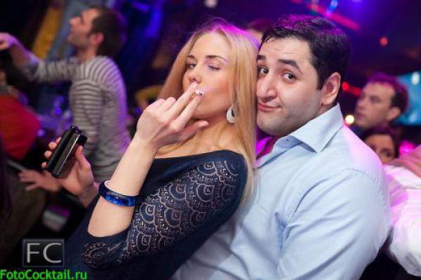 Cute Russian Club Girls Seem to Love Creepy Guys