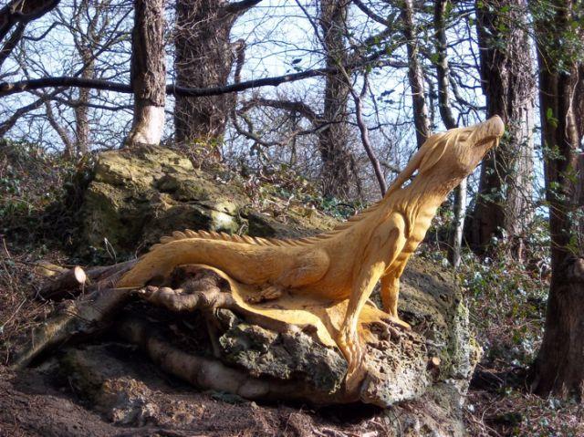 Chainsaw Wielding Tree Sculptures