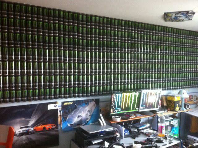 wall on monster energy drink fan