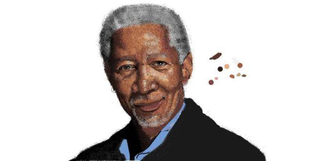 Morgan Freeman's MS Paint Portrait