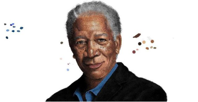 Morgan Freeman's MS Paint Portrait