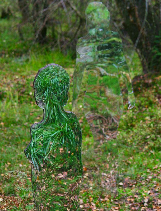 Spooky Acrylic Glass Sculptures