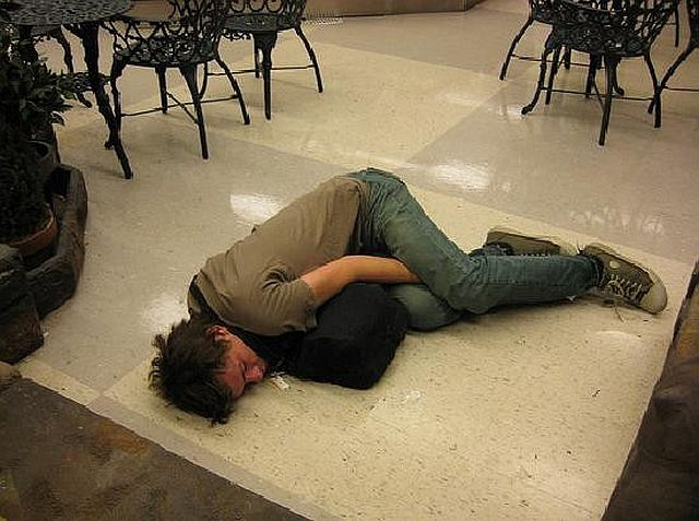 Drunk People Sleeping In Public