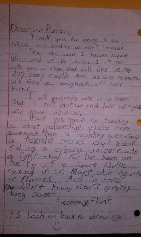 Hilarious Kid's Letter to Meteorologist