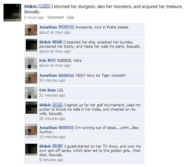 Memorable Facebook Status Updates