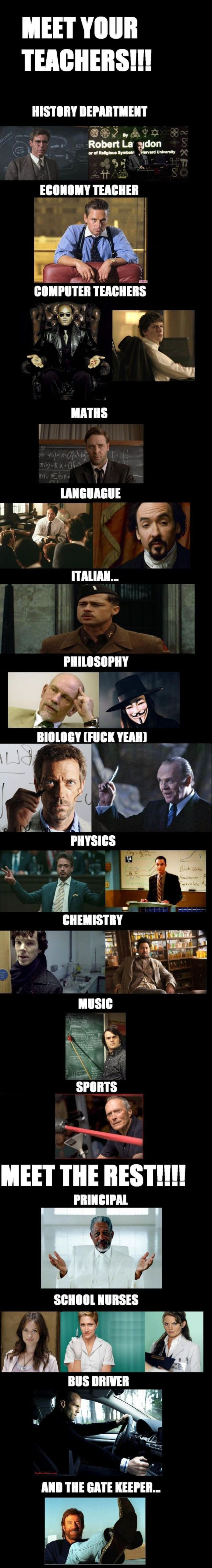 What If Our Teachers Were TV and Movie Characters?
