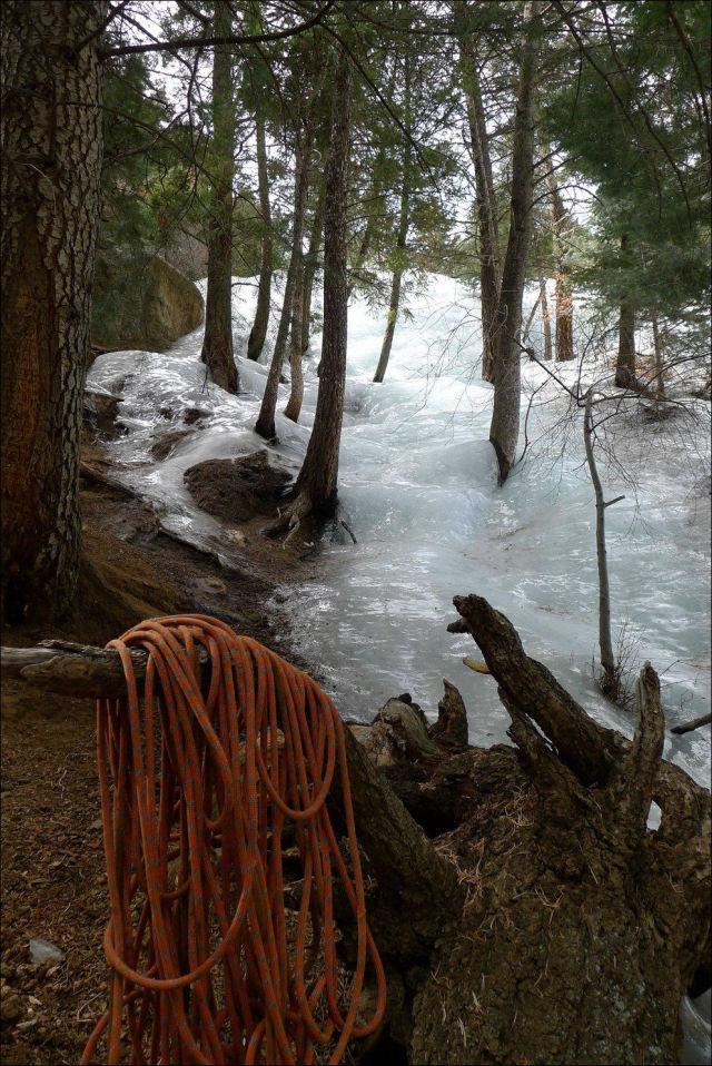 Fantastic Frozen Mountain River
