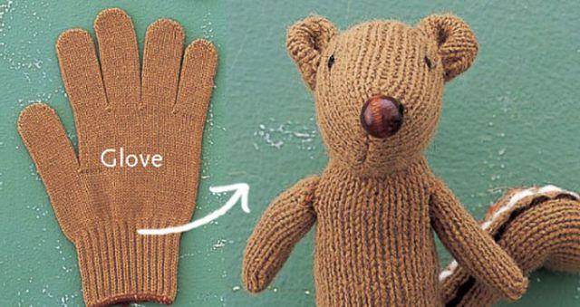 Toy Chipmunk Made of Glove