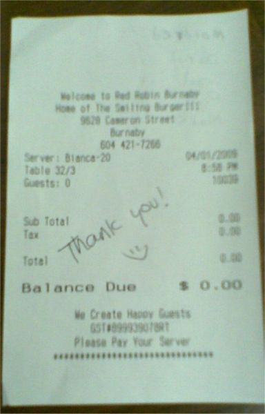 Ridiculous Receipts