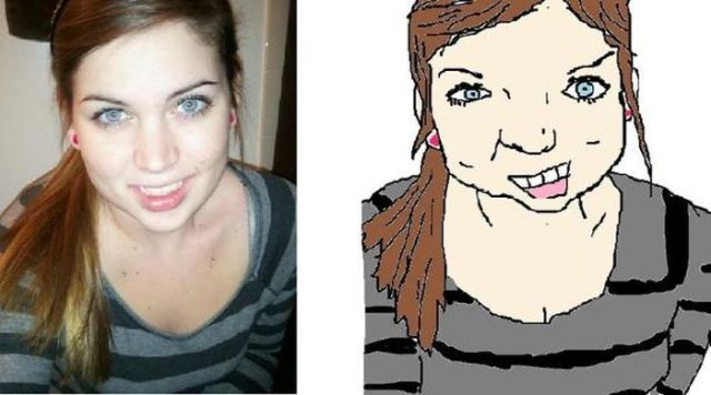 Absurd MS Paint Portraits of Facebook Friends