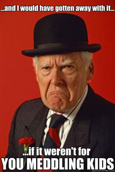 """Grumpy Old Timer"" Meme"