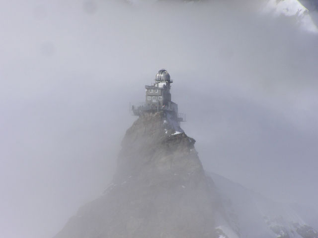 Swiss Observatory at the Mountain Peak