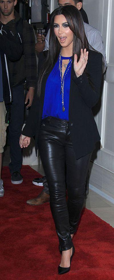 Kim Kardashian Hit with a Flour Bomb