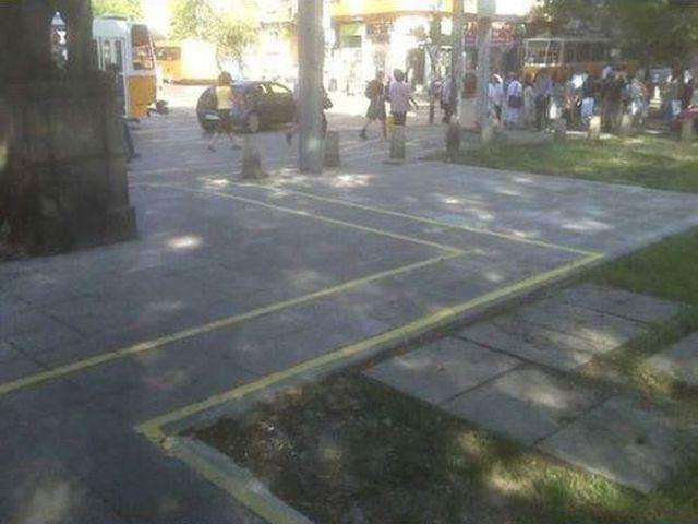 Wacky Bike Lanes in Bulgaria