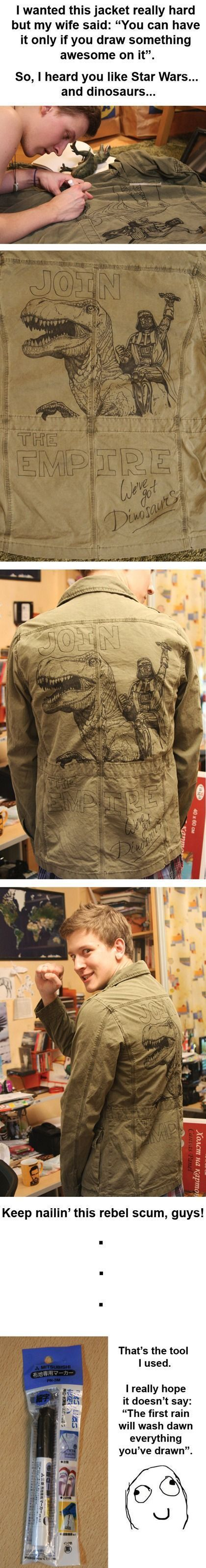 Man Turns Jacket Into Art