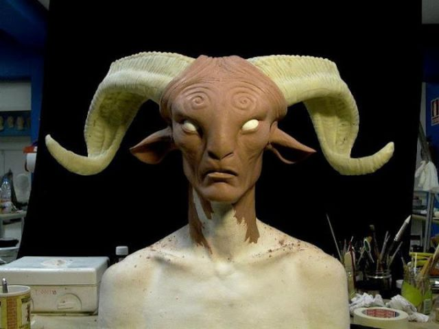 Pan's Labyrinth Faun Brought to Life at the Movie Studio