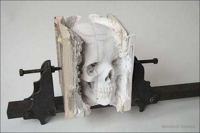 Sculpture Made out of Books