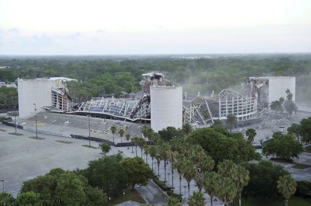 Orlando Magic Arena Blown Up