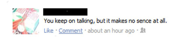 Horrendous Facebook Misspellings