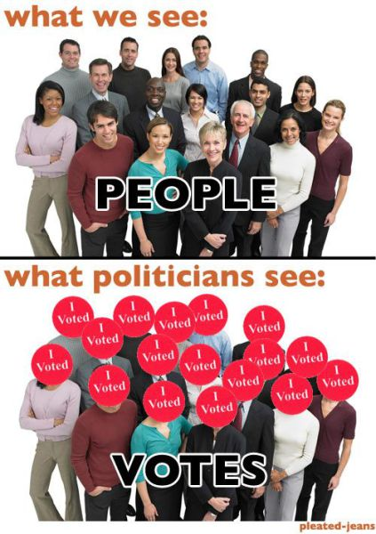 Normal People vs. Politicians