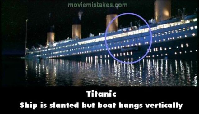 Titanic Movie Mistakes