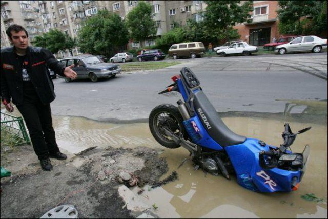 Shocking Bike Accident