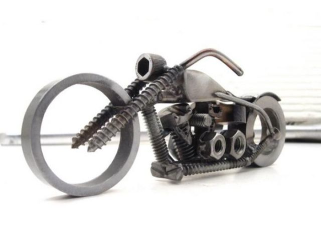 Tiny Sculptures Made out of Assorted Fasteners