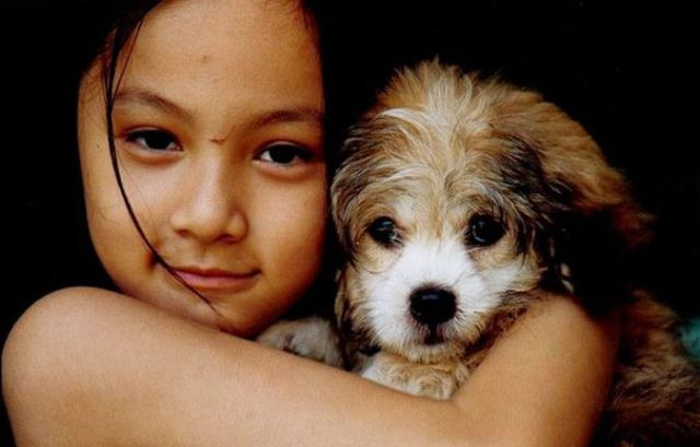 Cute Girl and Puppy a Decade Later