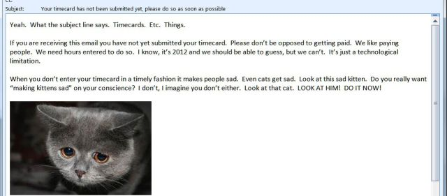 Epic E-Mail from the Boss