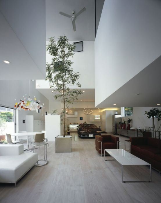 Modern Tokyo House With Cool Car Elevator