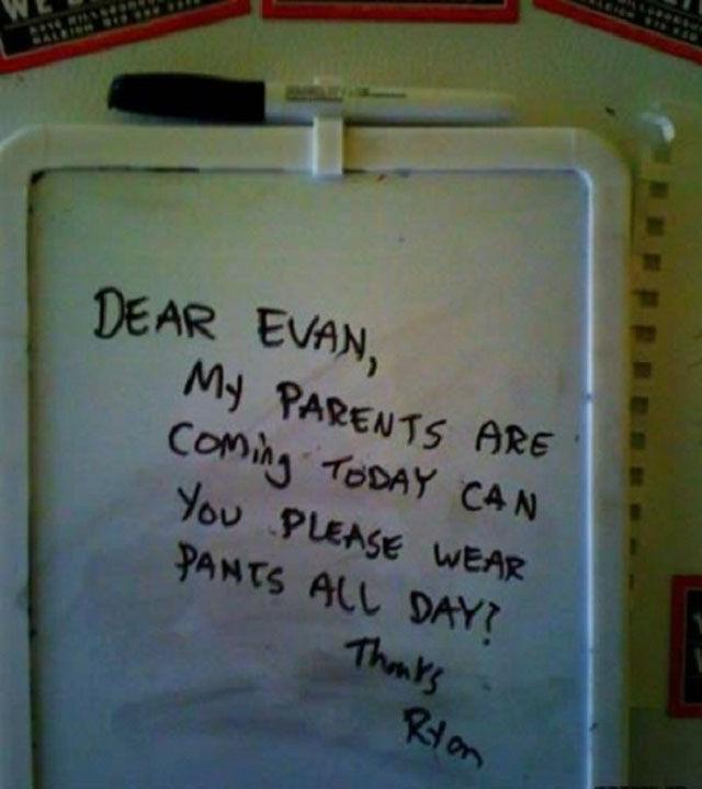 Passive Aggressive Notes to Reproach Your Roommate