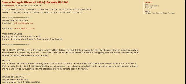Xmas order Apple iPhone 4S 64GB-$350