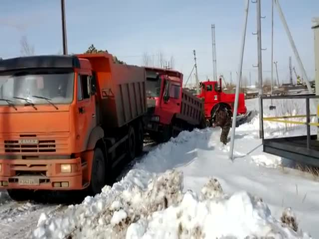 When a Russian Truck Pulls a Chinese Truck…