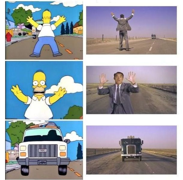 The Simpsons Recreating Movie Scenes