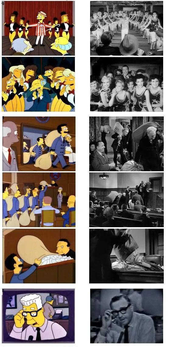 The Simpsons Recreating Movie Scenes
