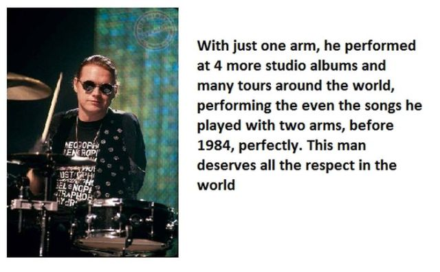 Courage and Dedication of Def Leppard Drummer