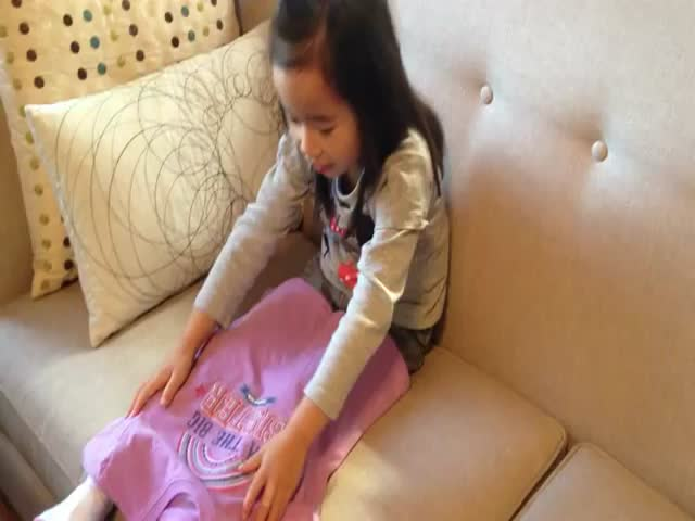 Little Girl Discovers She's Going to Be a Big Sister