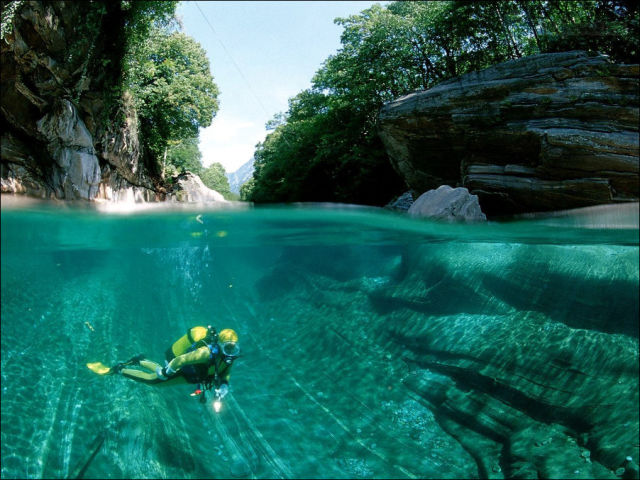 Incredibly Clear Waters of the Verzasca River