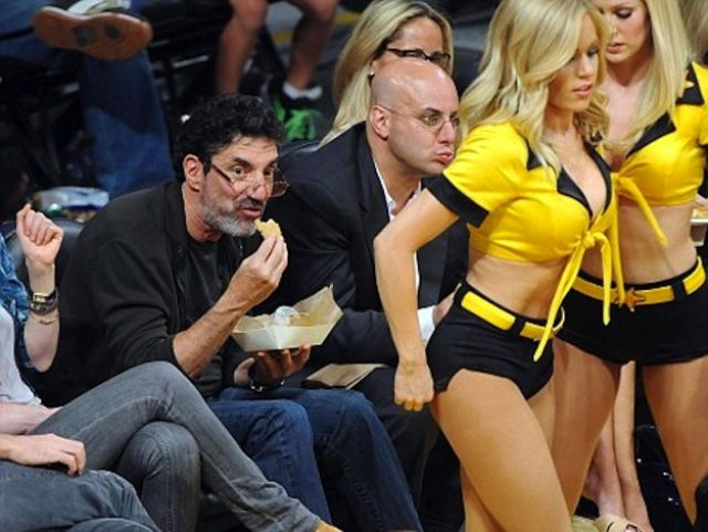 Male Celebrities Checking Out Cheerleaders