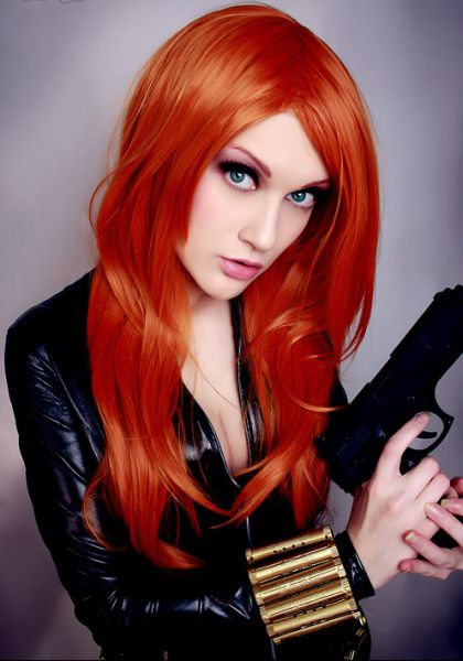 Busty Girls In The Black Widow Costumes 21 Pics -7347